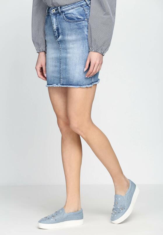 Niebieska Spódnica Fashion Victim