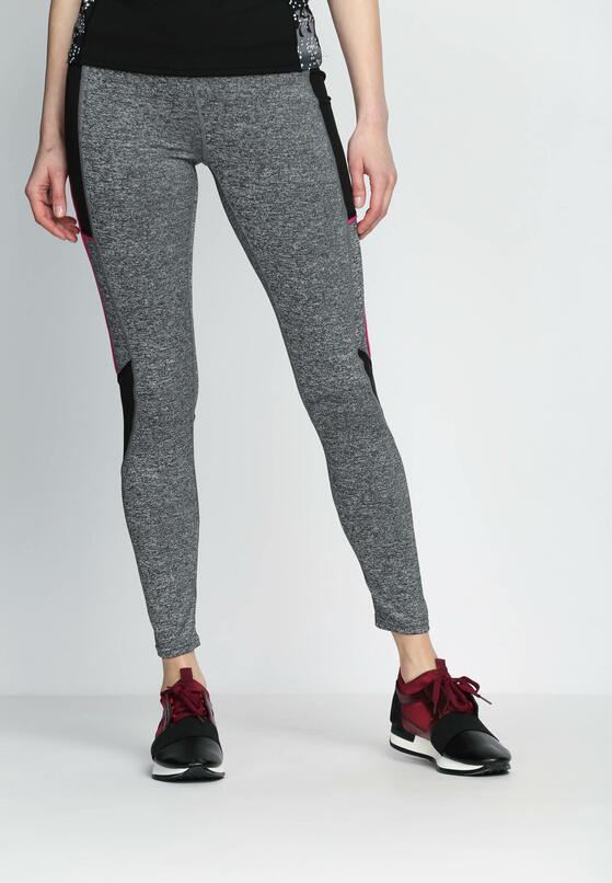 Szaro-Różowe Legginsy Fashion Editor