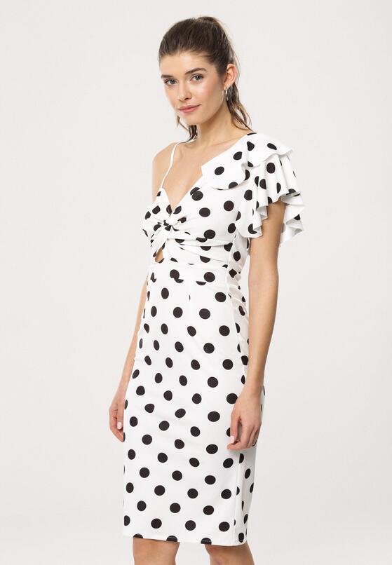 Biała Sukienka Retro Woman