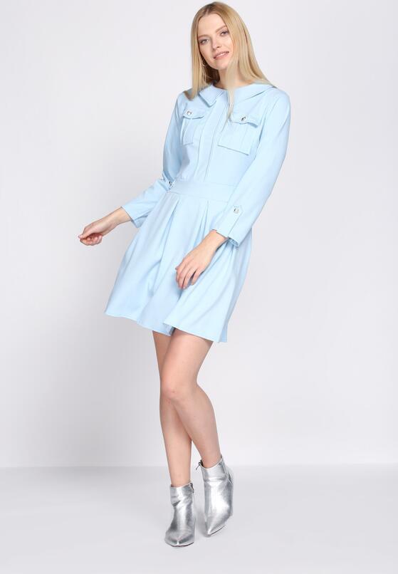 Niebieska Sukienka Restrict