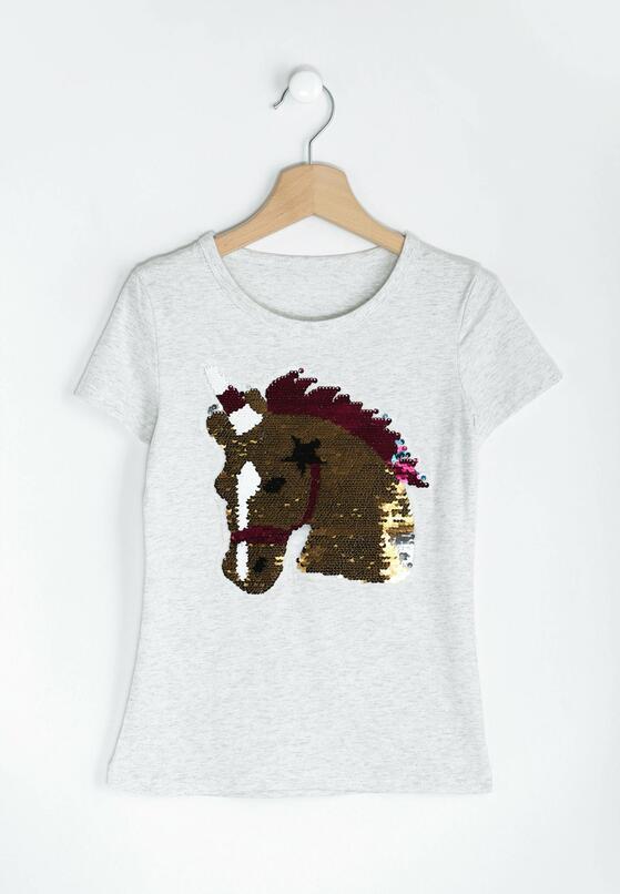 Jasnoszara Bluzka Horse