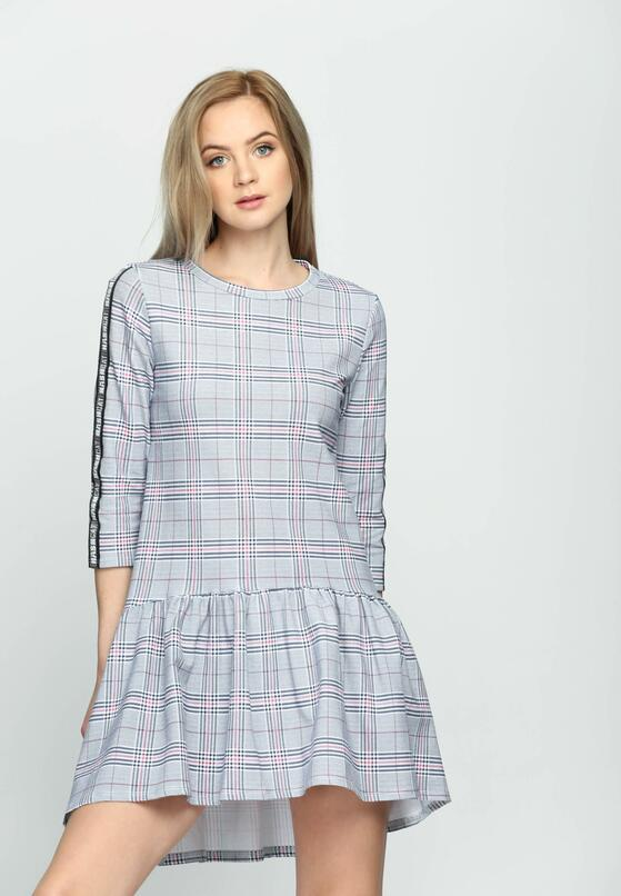 Ciemnoniebieska Sukienka Dashed Line
