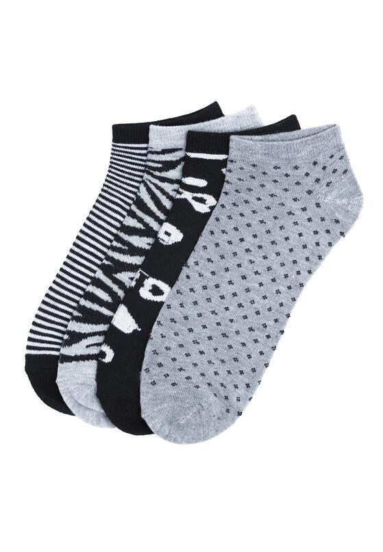 12-pack Czarno-Szare Stopki Dots And Stripes