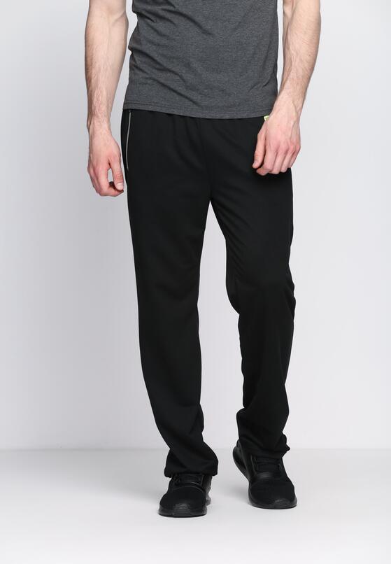 Czarne Spodnie Dresowe Strapped