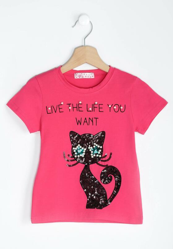 Fuksjowa Koszulka Black Kitty