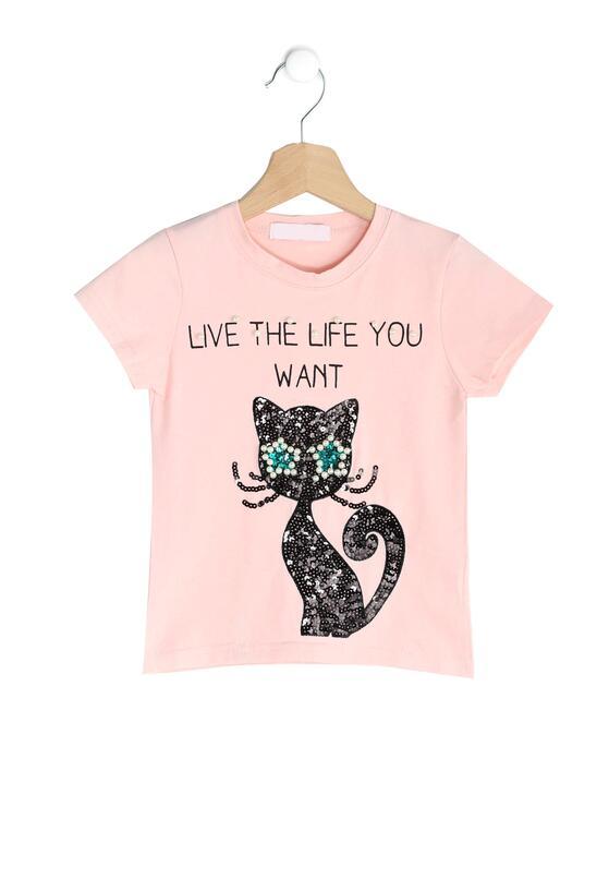 Różowa Koszulka Black Kitty
