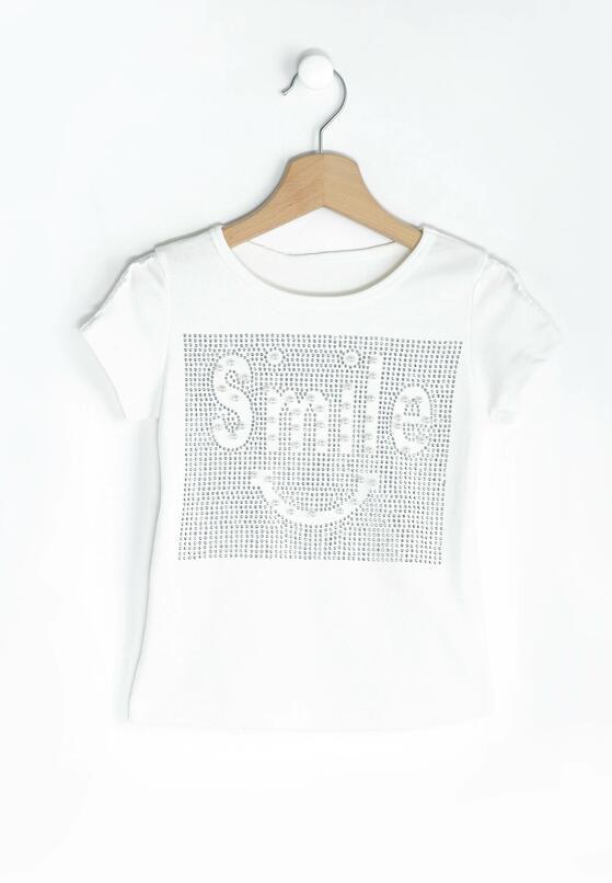 Kremowa Koszulka Keep Smile