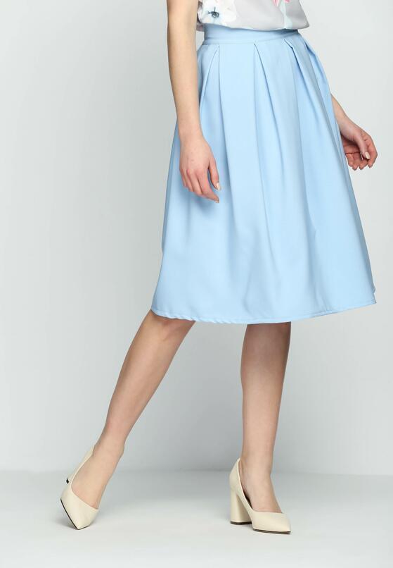 Niebieska Spódnica Fifties Mood