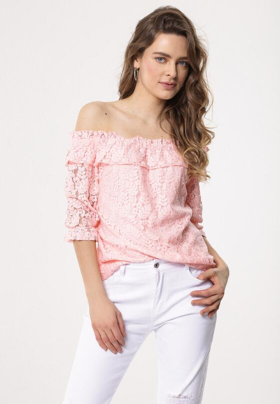 42e3b543fb Różowa Bluzka Chain Of Vogue