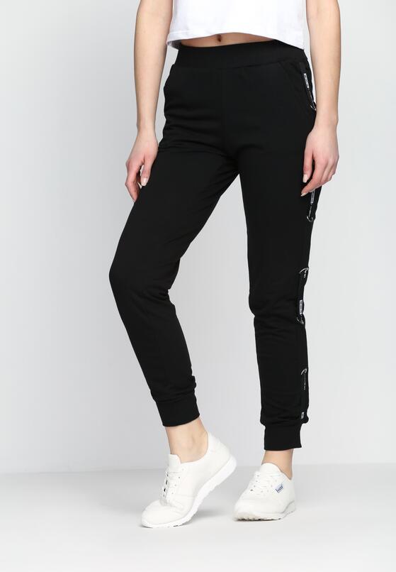 Czarne Spodnie Dresowe Addiction