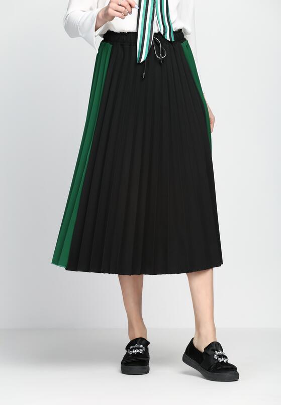 Czarno-Zielona Spódnica Anything Goes