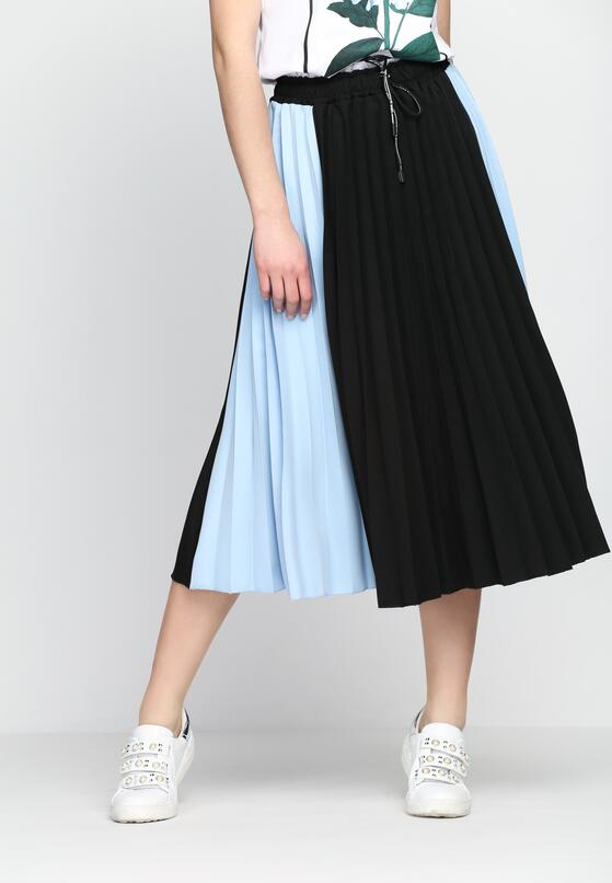 Czarno-Niebieska Spódnica Anything Goes