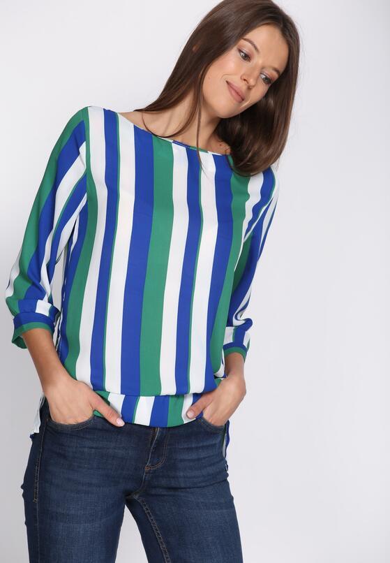 Niebiesko-Zielona Bluzka Holding Pattern