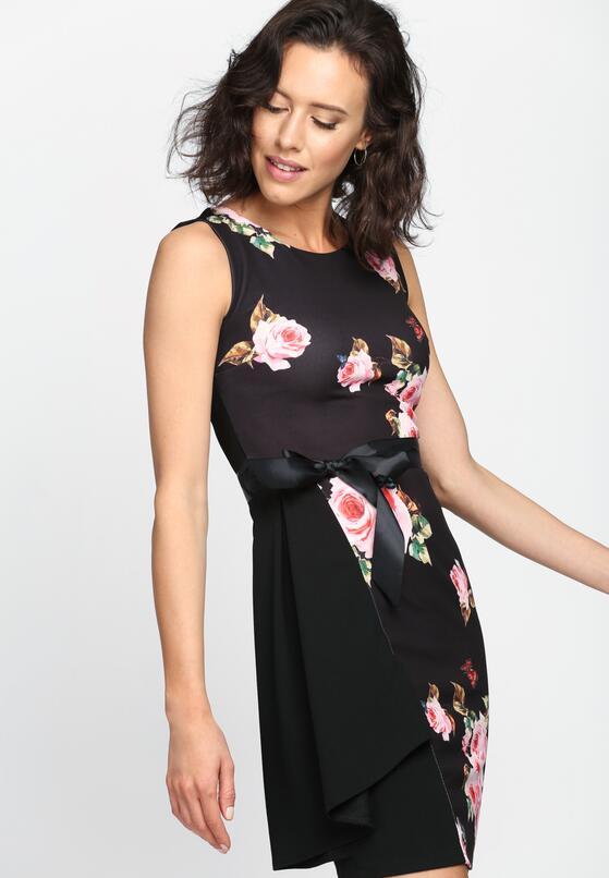 Czarno-Różowa Sukienka Paradise Look