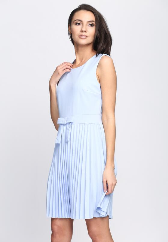 Niebieska Sukienka Comfortable Italian