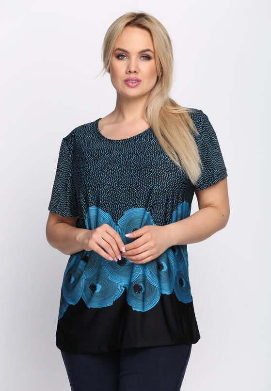 Czarno-Niebieski T-shirt Sweetest Thing.