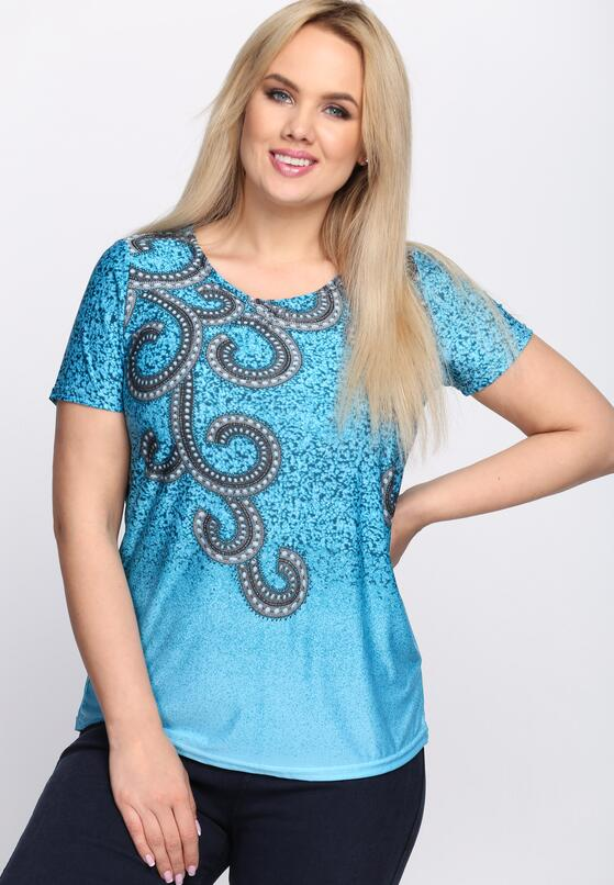 Niebieski T-shirt Without Me