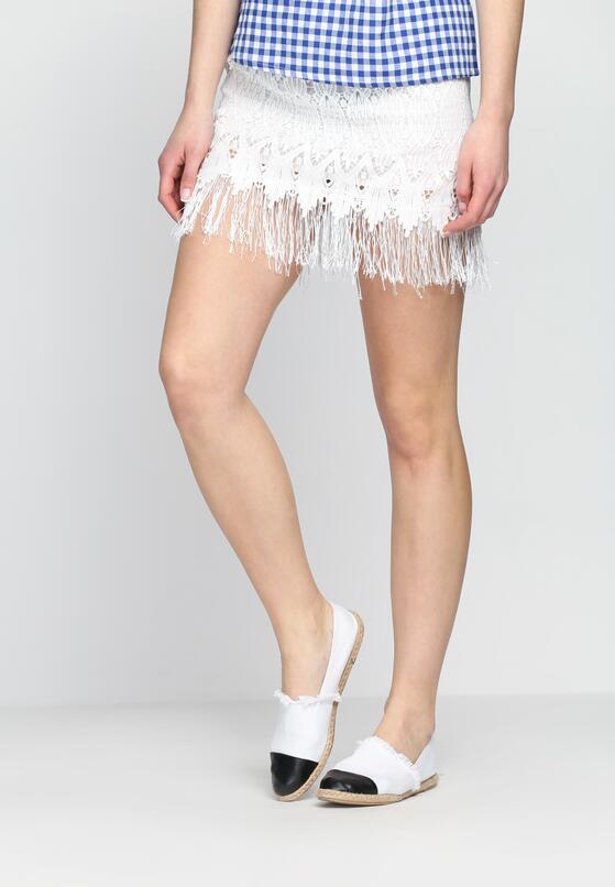Biała Spódnica Latch
