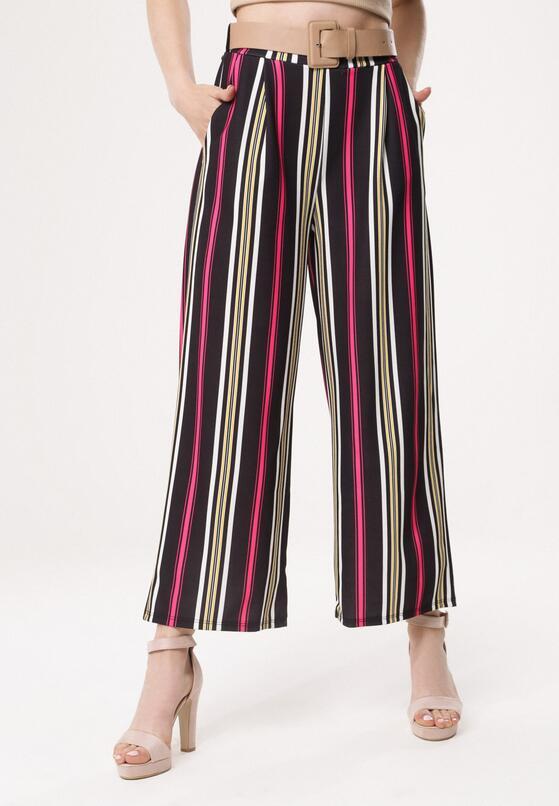 Czarno-Różowe Spodnie In Your Pocket