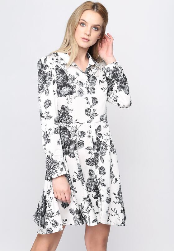 Biało-Czarna Sukienka Me Miss