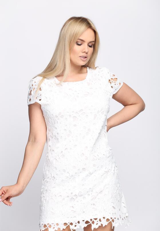 Biała Sukienka Hibiscus