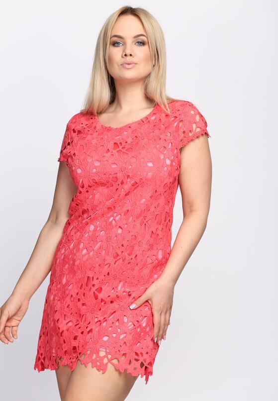 Koralowa Sukienka Hibiscus