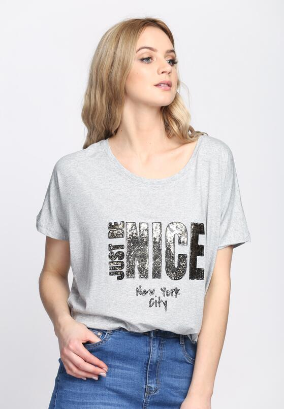 Szary T-shirt Just Be Nice