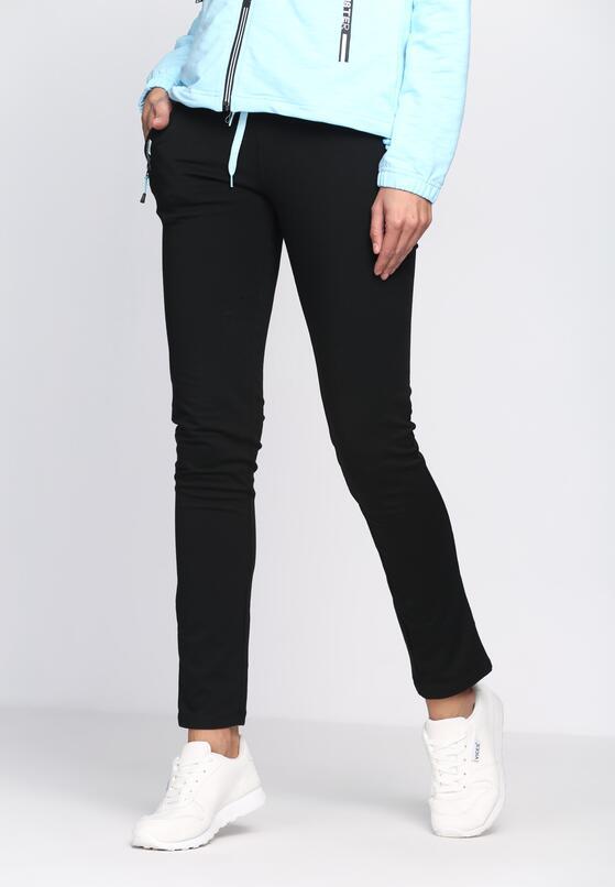 Czarno-Niebieskie Spodnie Dresowe On My Own