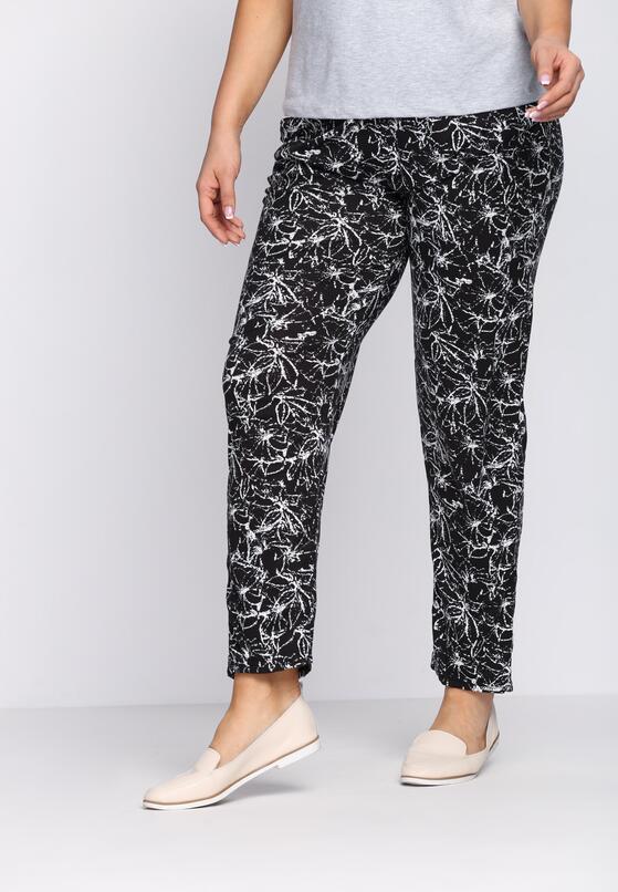 Czarno-Białe Spodnie Artless