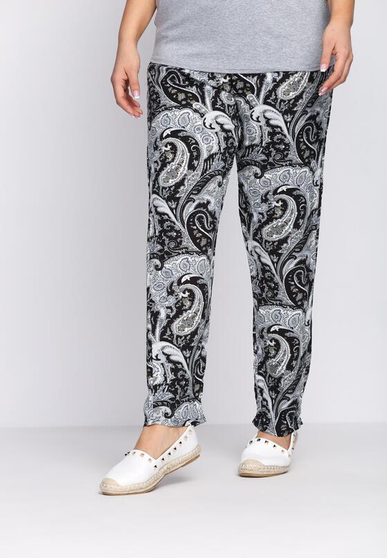 Czarno-Szare Spodnie Draftily
