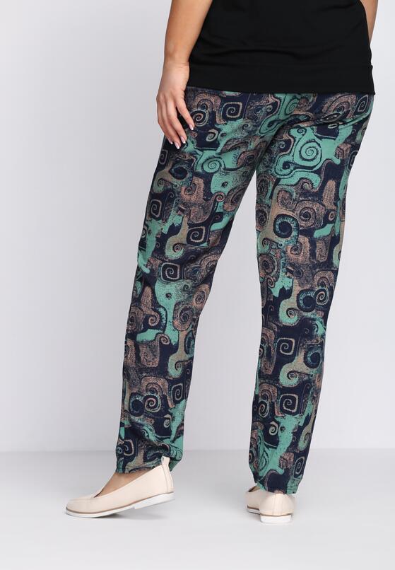 Granatowo-Zielone Spodnie Draftily