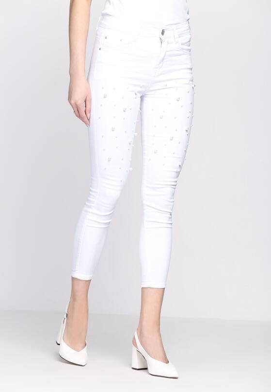 Białe Jeansy Grande Dame