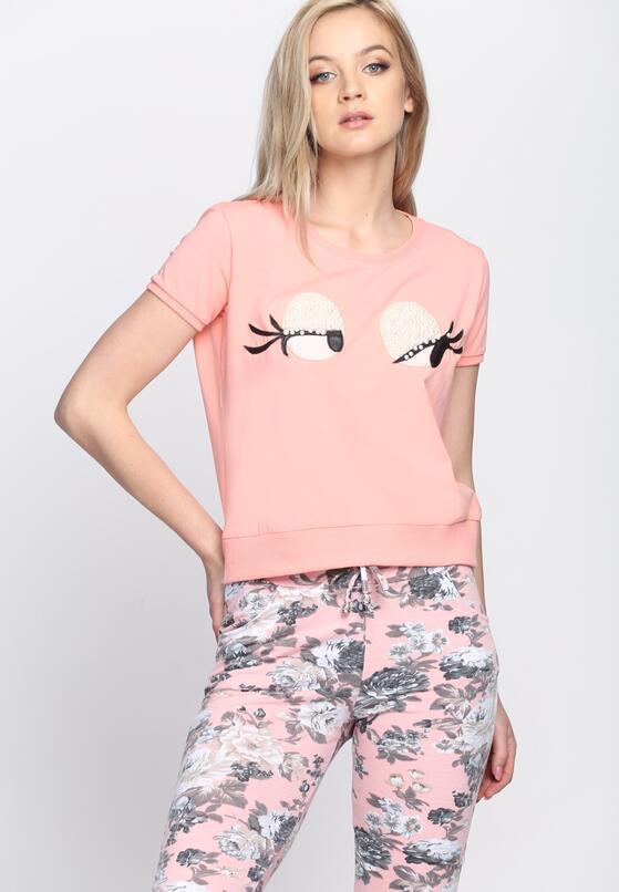Różowy T-shirt Beady Eyes