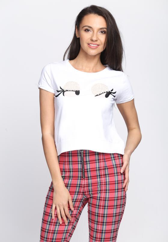 Biały T-shirt Beady Eyes