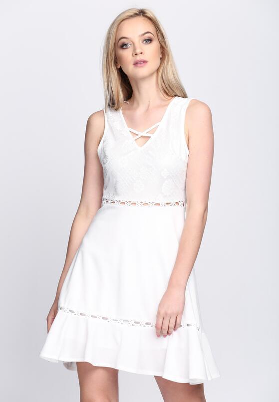 Biała Sukienka Love Spit Love