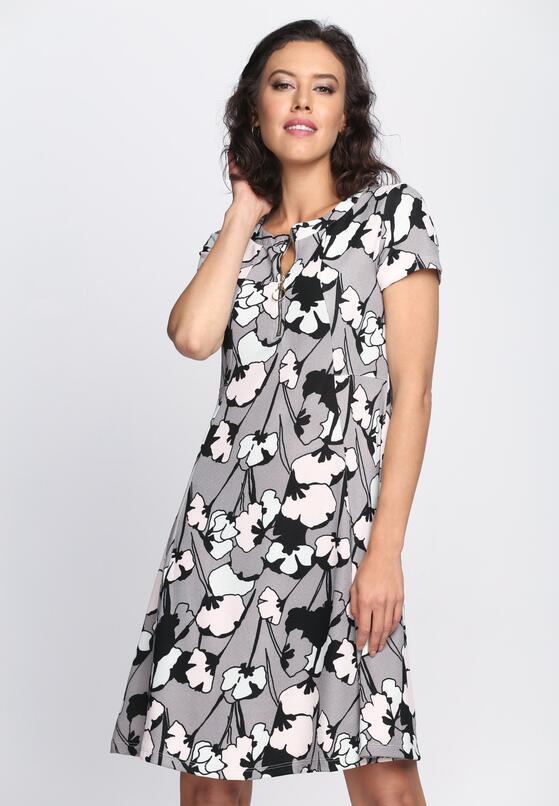 Szara Sukienka A La Mode
