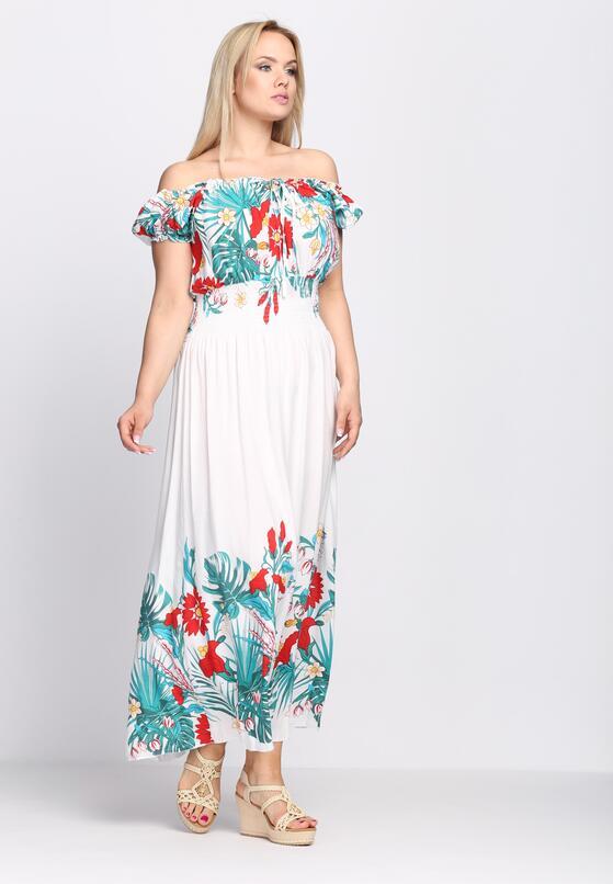 Biała Sukienka Interstice