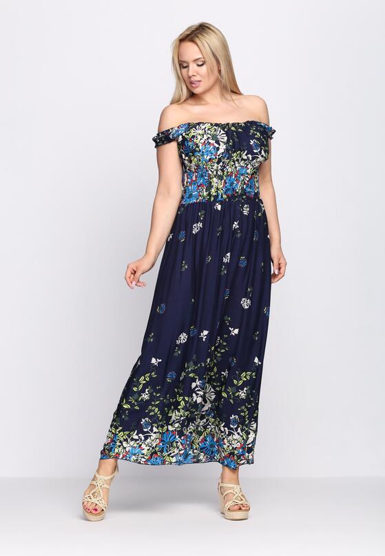 Granatowa Sukienka Seductively