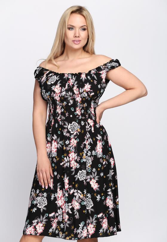 Czarna Sukienka Flower Girl