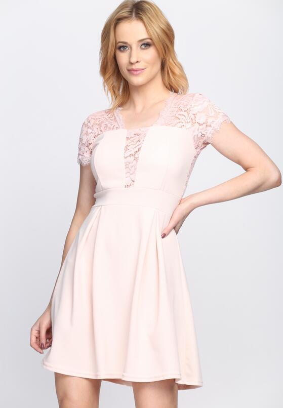Jasnoróżowa Sukienka Dream Dreams