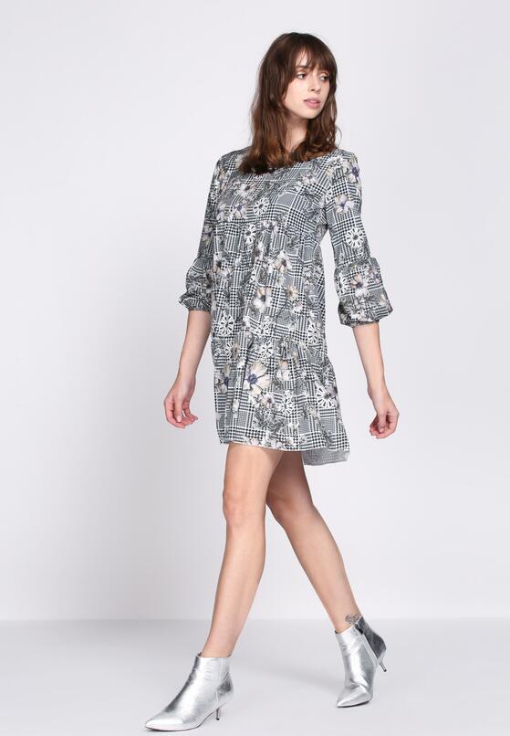 Szaro-Beżowa Sukienka Multiple