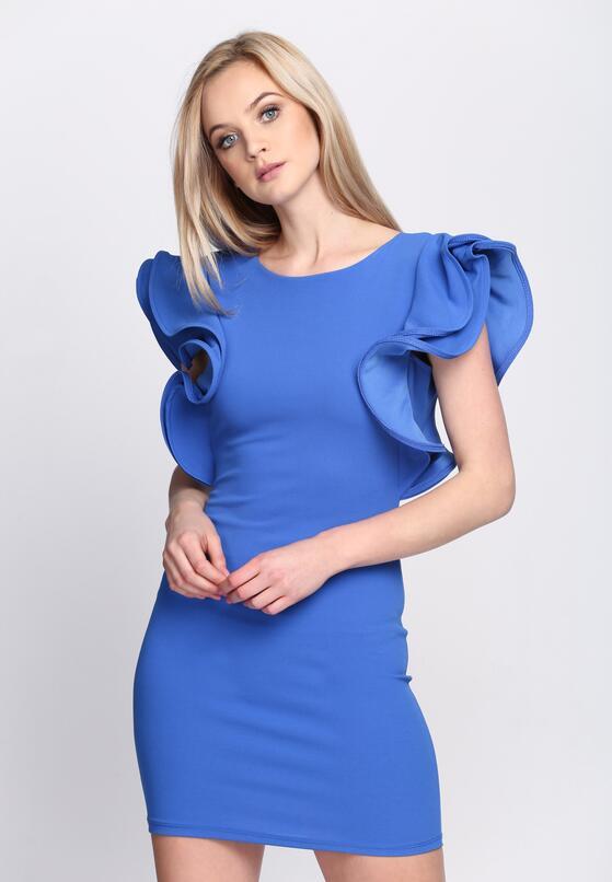 Niebieska Sukienka Violet Garden