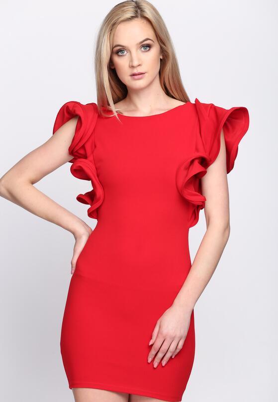 Czerwona Sukienka Violet Garden