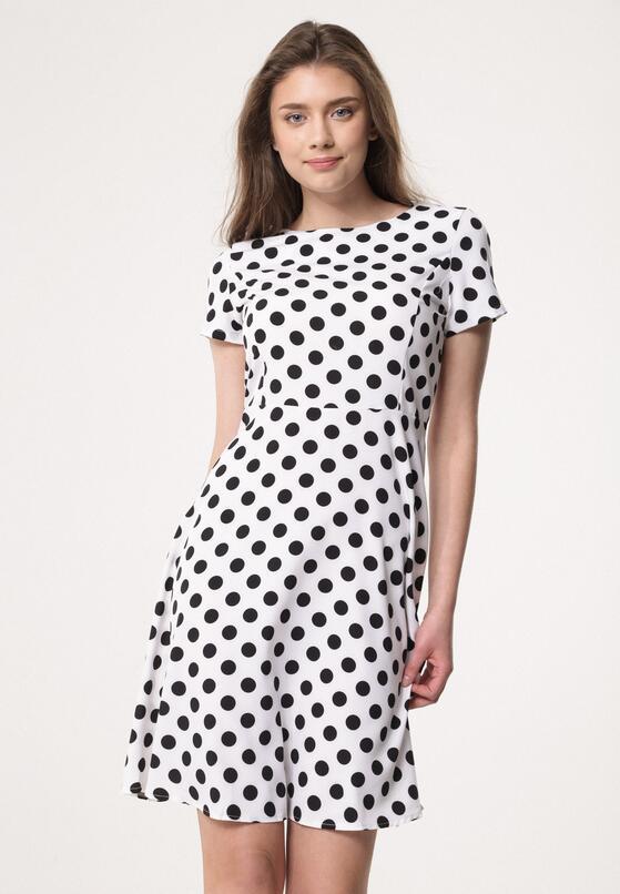 Biała Sukienka Overt It's Covert