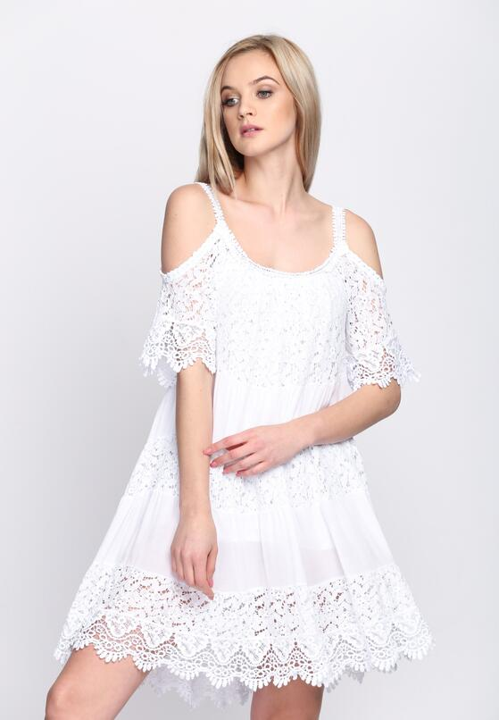 Biała Sukienka Promise This