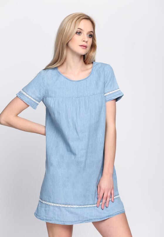 Jasnoniebieska Sukienka Denim Deze