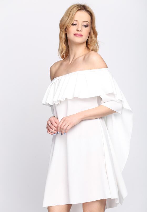 Biała Sukienka Never Sleeps