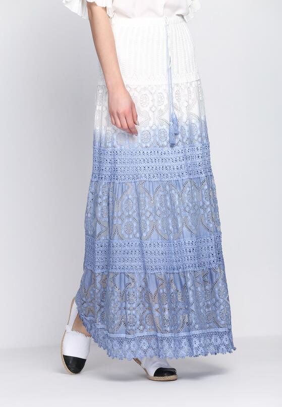 Biało-Niebieska Spódnica Me Me Me