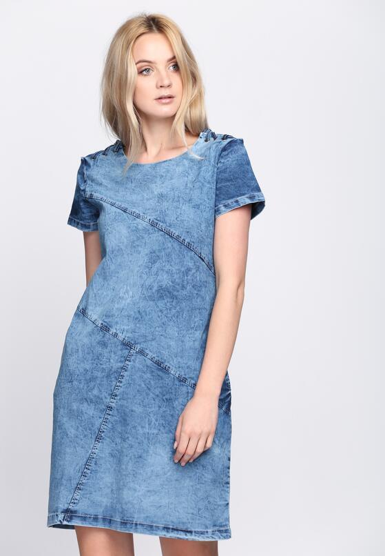 Niebieska Sukienka Love Myself