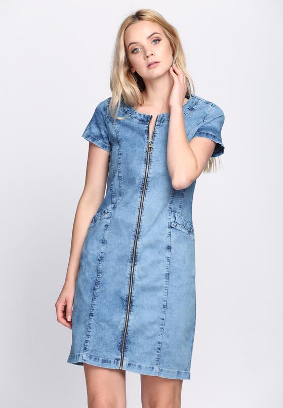 Niebieska Sukienka Subtle Feeling